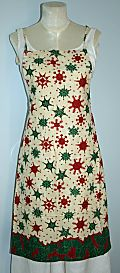 Red and green snowflakes apron 480