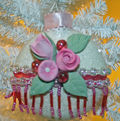 Handmade roses round ornament 2 640 2